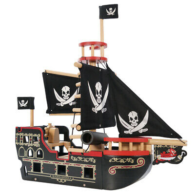Brand New Le Toy Van Barbarossa Pirate Ship Wooden Toy