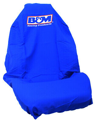 B&M Throw Over Slip On Single Seat Cover Fits Most Cars Licensed Logo Embroidery