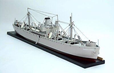Liberty Waterline Battleship - Handcrafted Wooden Warship Model NEW