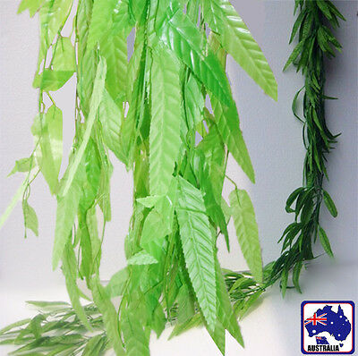 5X 10X 20X 50X 2m Artificial IVY Leaves Plants Weeping Willow Wedding HVINE0621