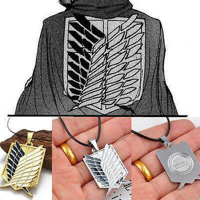 Famous Hot Attack on Titan Wings of Freedom Shingeki no Kyojin Cosplay Necklace