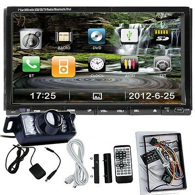 "CLEARANCE 7"" 2Din In Dash Car iPod iPhone Stereo DVD Player Bluetooth Touch TV"