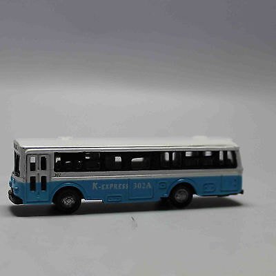 N Scale Railway 1:160 Diecast Mini Buses Model - White and Blue