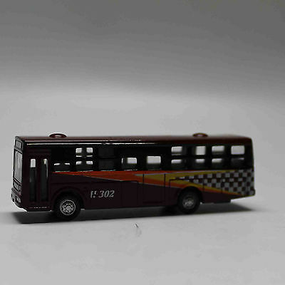 N Scale Railway 1:160 Diecast Mini Buses Model - Brown