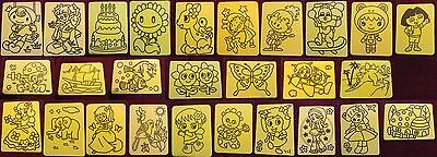 10x Mixed Sand Art Cards only Kids Craft Holiday 20x15cm Birthday Party Gift