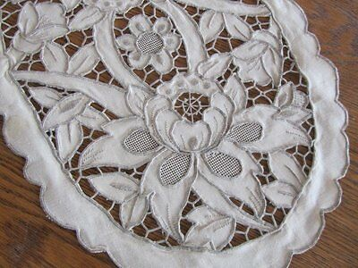 Vintage Embroidered Needle Lace Placemats