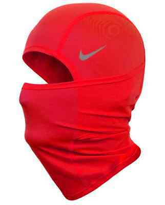 NIKE Youths Red Pro Combat Dri-Fit Hood Running 4 Wearing Options One Size BNWT