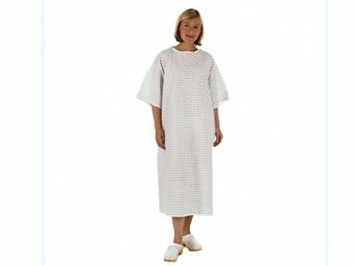 Unisex PATIENT GOWN, Reusable Style Wrap Around - Hospital Supplied, Night Dress