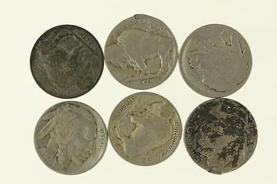 Vintage Lot US Coins 6PC BUFFALO HEAD NICKELS