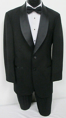 Black After Six Two Button Shawl Tuxedo Jacket Wedding Prom *FREE SHIPPING* 44S