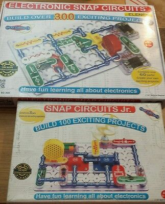 Electronic Snap Circuits, 300 Projects, + Snap Circuits Jr 100 Projects, 2 BOXES