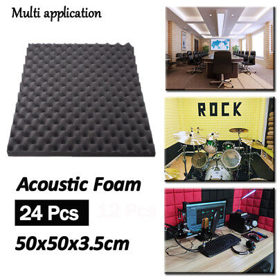 24Pcs Acoustic Soundproofing Studio Foam Sound Stop Absorption Wall Ball Tiles