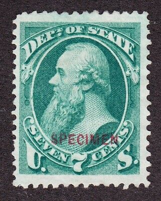 US O61SD 7c State Department Specimen VF SCV $140