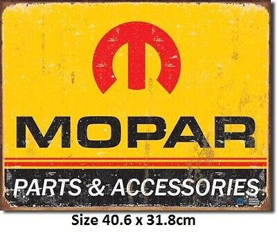 Mopar Logo 64-71 Parts & Accessories Tin Metal Sign 1315 Licensed Made in USA