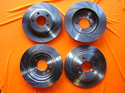 SLOTTED FULL VEHICLE SET Ford BA BF FG Disc Brake Rotors with 12m/20000 WARRANTY