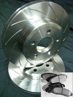 SLOTTED VMAX PAIR & PADS Ford BA BF FG Front Disc Brake Rotors NEW with WARRANTY