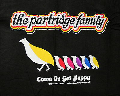 Vtg 1998 Partridge Family TV Show Come on Get Happy Concert T-Shirt New NOS LG