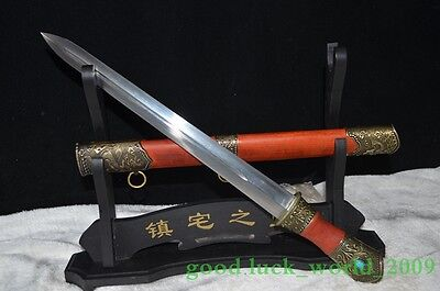 Chinese Sword High Carbon Steel Short Sword Archaize Sharp Hand Forge #0366