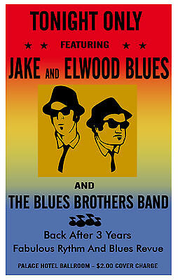 Blues Brothers Concert Poster  - 8x10 Color Photo