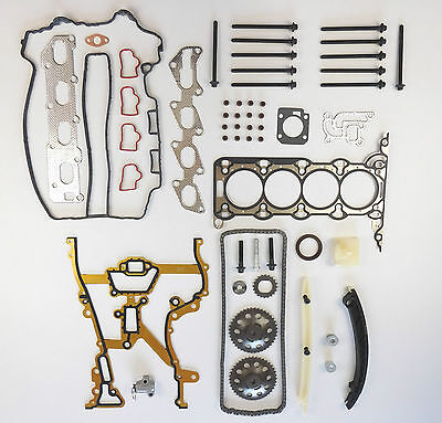 Head Gasket Set Bolts Timing Chain Kit Astra Combo Corsa 1.2 1.4 Z12Xep Z14Xep