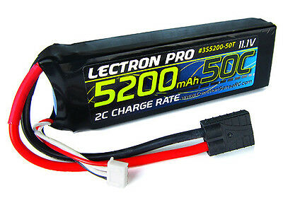 Lectron Pro 3S5200-50T 11.1V 3S 5200mAH 50C Lipo Battery w/ Traxxas Connector