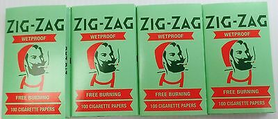 4 Packs Zig Zag Wetproof Rolling Papers 100 Leaves/PackFree BurningFree Shipping