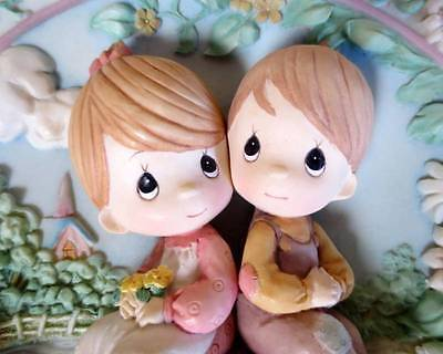 """Precious Moments """"Love One Another"""" Three-Dimensional Sculpted Plate #186406"""