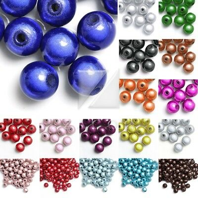 18 Colours 3D Illusion Acrylic Beads Jewellery Bulk Lots Round Necklace 4/6/10mm