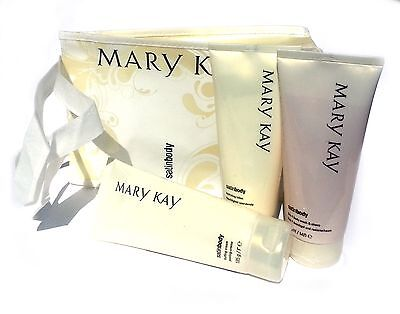 Mary Kay Satin Body Pampering Set: Buffing Cream + Body Wash & Shave + Lotion