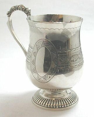 Marvellous Antique Solid Silver Mug/Tankard, Fully Hallmarked 1888, Very Ornate