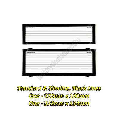 Number Plate Covers Slimline/Std Black Lines One Pair 6QSL Lifetime Warranty