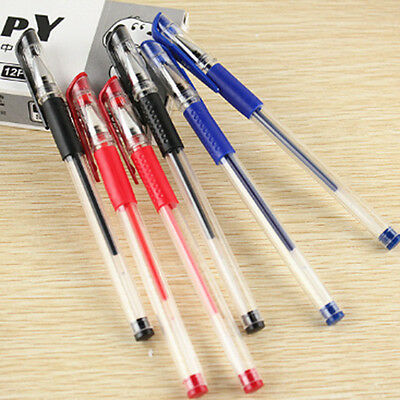 3x 0.5mm Ball Point  Pen Stationary Gel Ink Pen Black Daily Work Study Tool New