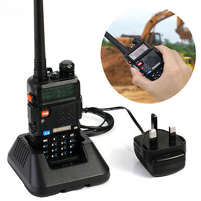 BAOFENG UV-5R Walkie Talkie Dual Band 136-174/400-520Mhz FM Ham Two Way Radio UK