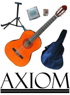 Axiom Beginners Guitar Pack - Full Size starter Pack - Natural