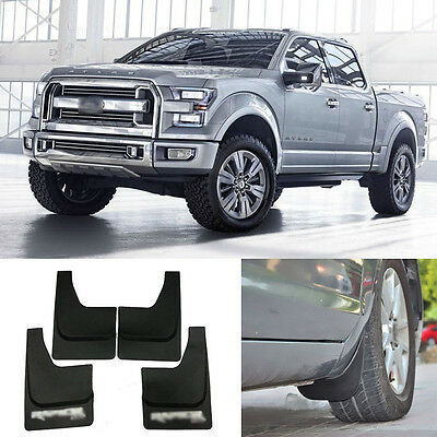 4pcs High Quality ABS Mudguard Splash Guards Fender Mud Flaps For Ford Raptor