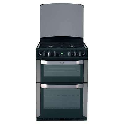 Belling FSG60DOP 4 Burners Gas Cooker Programmable Double Oven Stainless Steel