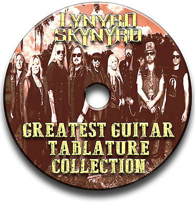 53 x LYNYRD SKYNYRD ROCK GUITAR TABS TABLATURE SONG BOOK SOFTWARE CD