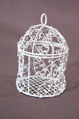 Mini-cage oiseaux blanche Dragees NEUF