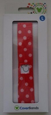 Disney Parks Magic Band Coverbands Cover Minnie Mouse Polka Dots Large Lg New
