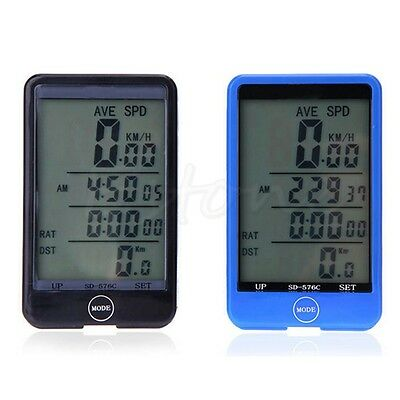 Wireless Bike Bicycle Computer Touch Screen LCD Odometer Backlight Speedometer