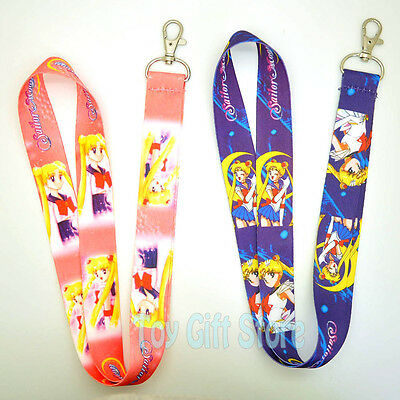 Cute Sailor Moon Lanyard Keys ID Neck Strap