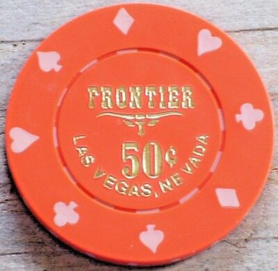 .50 5Th Edt Fractional Gaming Chip From The Frontier Casino Las Vegas Nv