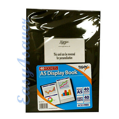 A5 40 Pocket Display Book Presentation Folder Portfolios (Tiger) - 017194