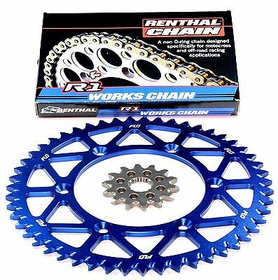 RENTHAL R1 Gold Motocross Chain BLUE Sprocket Combo Kit 48/13T YZ250F