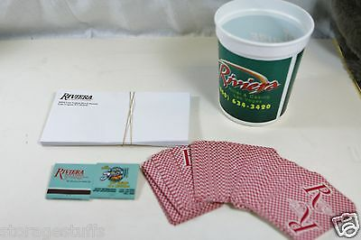 Riviera Casino Collectibles Matchbooks/Playing Cards/Slot Cup/Envelope Las Vegas
