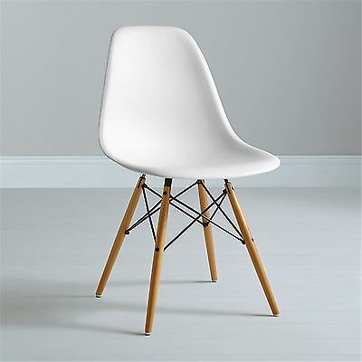 Mmilo Eiffel Inspired White Contemporary Office Side Dining Chair Retro in White