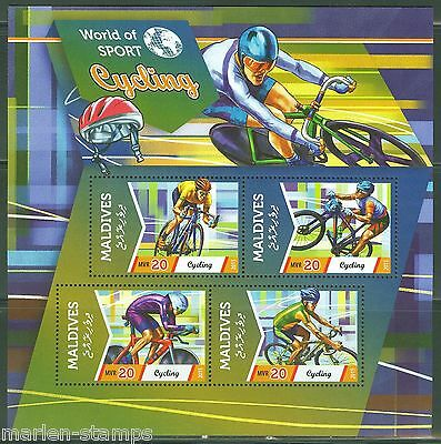 Maldives 2015  World Of Sport Cycling  Sheet Mint Nh