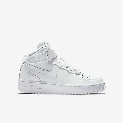 New Nike Youth Air Force 1 Mid (GS) Shoes (314195-113)  White/White