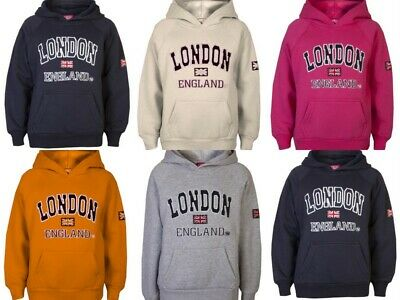 Childrens London Hoodys By Love Lola® Boys Sweatshirts Girls Souvenir Hoodies