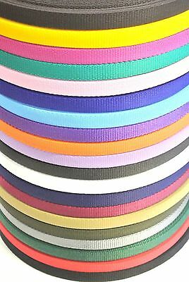 2,5,10,25,50 Metres 20mm Webbing Various Colours Bags,Straps,Craft,Leads,Collars
